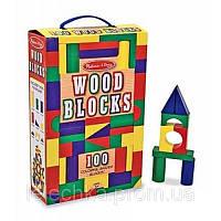Дерев'яні кубики Melіssa & Doug 100 шт