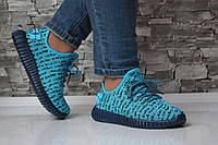 Женские легкие текстильные кроссовки цвет синий, 39 40 р.