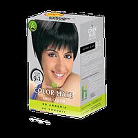 """Натуральная краска для волос Color Mate hair color от ТМ """"Henna Industries , цвет  Natural Black  (9.1)"""