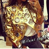Женская куртка в золотом цвете