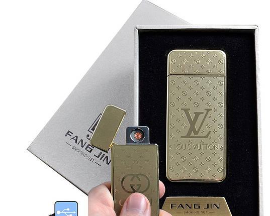 """Электронная USB зажигалка """"Louis Vuitton"""" №4796A-4, спираль накаливания, модный девайс в подарочной упаковке  , фото 2"""