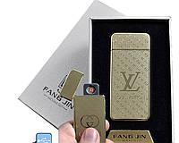 """Электронная USB зажигалка """"Louis Vuitton"""" №4796A-4, спираль накаливания, модный девайс в подарочной упаковке"""