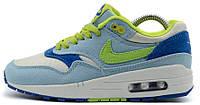 Женские кроссовки Nike Air Max 87 (найк аир макс 87) мятные/белые