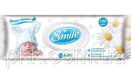 Ультрамягкие влажные салфетки для детей Smile Baby с клапаном100 шт