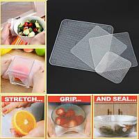 Набор упаковочных стрейчевых крышек-пленок для продуктов Stretch and Fresh