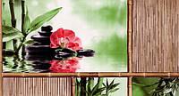 Обои влагостойкие мойка Шарм Азия 108-01 коричневый с коралловым цветком