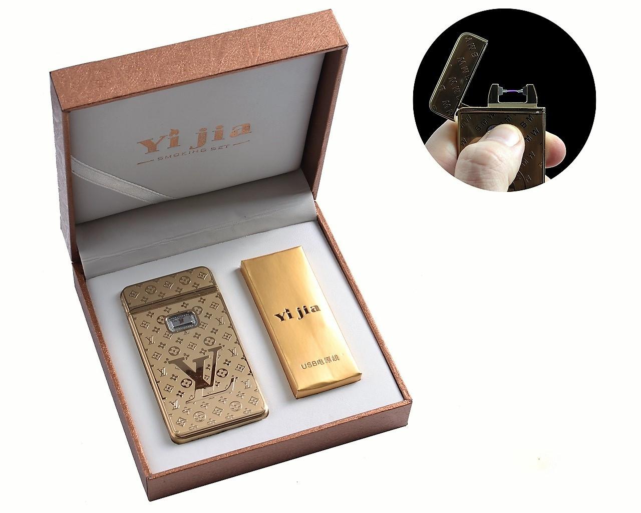 """Электроимпульсная USB зажигалка """"Louis Vuitton"""" №4772-4, работает как шаровая молния, поджигает все"""