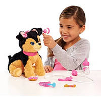 Barbie Интерактивная Собачка щенок в сумочке Набор доктора Врач Ветеринар Kiss and Care Pet Doctor Set with Black/Brown Puppy