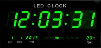 Часы электронные настенные большие зеленые 4600-5green