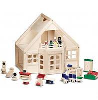 Меблированный деревянный домик Melissa & Doug, фото 1