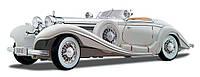 Автомодель 1:18 Mercedes-Benz 500 K Typ Specialroadster 1936 Macharadga белый MAISTO (36055 white)