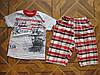 Детский комплект футболка и капри Кораблик  для мальчиков  2- 5 лет Турция хлопок