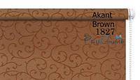 Рулонные шторы на окна ткань Акант 1827 (коричневый цвет) 45см