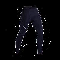 Компрессионные штаны темно синие для спорта  (черный шов)