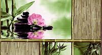 Обои влагостойкие мойка Шарм Азия 108-03 зеленый с розовым цветком