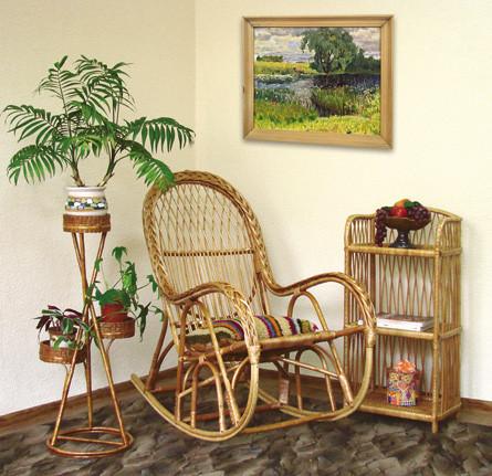 Набор мебели Этажерка низкая из лозы