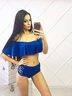 Купальник женский раздельный в синем цвете