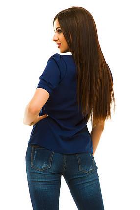 Блузка 239 темно-синяя, фото 2