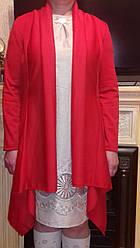 Женский трикотажный кардиган-весна\осень,красный