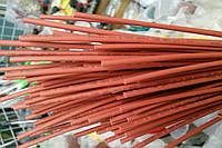 Термоусадочная трубка,размер 1,0/0,5мм,цвет красный,длина 1метр