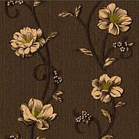 Обои бумажные Деми 1262 коричневый, фото 1