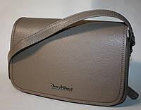 Женская сумочка клатч Tony Bellucci серый жемчуг натуральная кожа