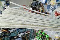 Термоусадочная трубка,размер 1,5/0,75мм,цвет белый,длина 1метр