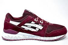 Кроссовки женские в стиле Asics Gel Lyte 3, Бордовый, фото 3