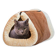 Домик-лежанка для собак и кошек Kitty Shack 2 in 1 Tunnel Bed & Mat, фото 2