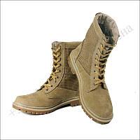 Берцы летние облегченные, обувь для военных, нубук койот перфорация