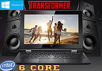 Стильный ноутбук Transformer  GOCLEVER! 6 core, 2Gb RAM, 11.6'' Гарантия 2 года