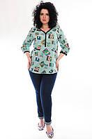 Блузка - рубашка женская, вискоза, р-ры 46-52
