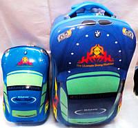 Комплект /чемодан + рюкзак /детский пластиковый 3 D BMW DD-326-2