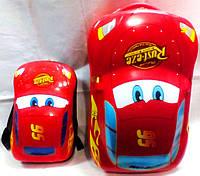 Комплект /чемодан + рюкзак / детский пластиковый 3 D Тачки DD-328-2