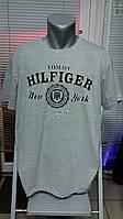 Большой размер, футболка TOMMY HILFIGER.Светло-серая.
