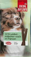 Закуска для собак с мясными субпродуктами Dein Bestes Snack für Hunde, Knabberstäbchen reich an Pansen, 120 g