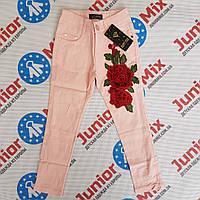 Котоновые брюки с вышитыми  розами на девучку HAPPY STAR, фото 1