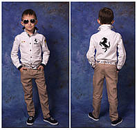 Модельные детские брюки. итальянский структурный ЛЕН .  Брюки не тянутся !