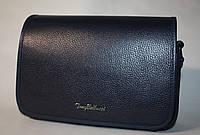 Женская сумочка клатч Tony Bellucci синяя натуральная кожа