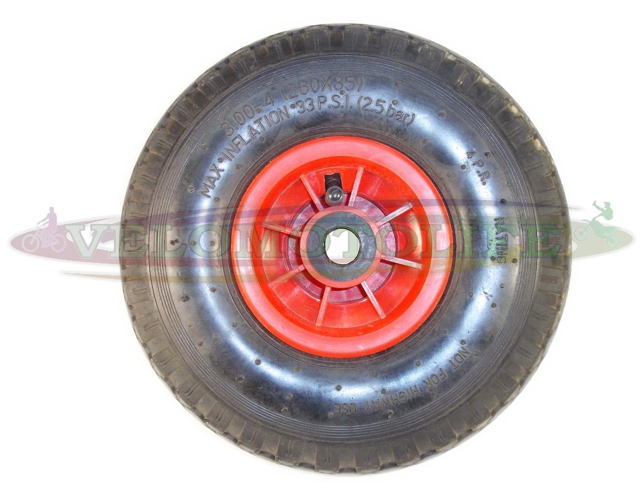 Колесо для тачки 3.00-4 (260Х85) пластик