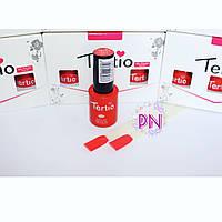 Гель-лак Tertio #001 Карминово-красный эмалевый, плотный без перламутра. 10 мл.