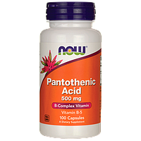Пантотеновая кислота, Витамин В-5, Pantothenic Acid, 500 мг. 100 капсул