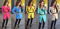 Модный пиджак р.42-54 ремень и брошь в комплекте