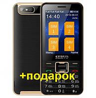 Телефон на 4 сим карты SERVO V8100 4 sim