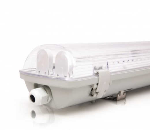 Корпус герметичного светильника 2 х 1200 мм для светодиодных ламп IP65