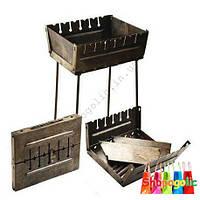 Мангал- чемодан складной (6,8,10,12 шампуров)