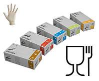Перчатки латексные опудренные текстурированные SANTEX