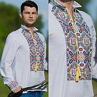 Вышиванка мужская с гербом Украины, фото 1