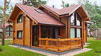 Дома и гостиницы из профилированного бруса. Украина и экспорт.