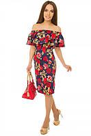 Платье женское футляр-рюша S-L размеры SV 17-29-4c